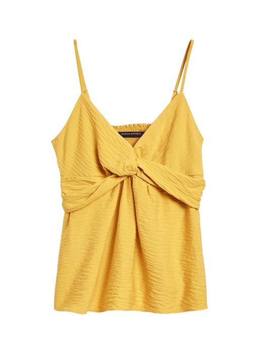 Kadın Sarı Önü Büzgülü Bluz