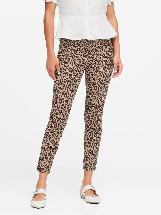 Kadın Kahverengi Modern Sloan Skinny-Fit Yıkanabilir Pantolon