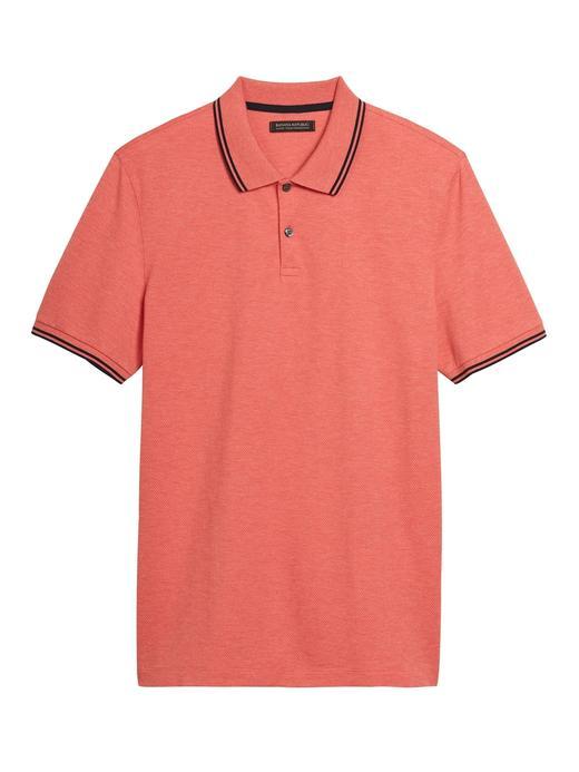 Erkek Turuncu Luxury-Touch Performance Polo Yaka T-Shirt
