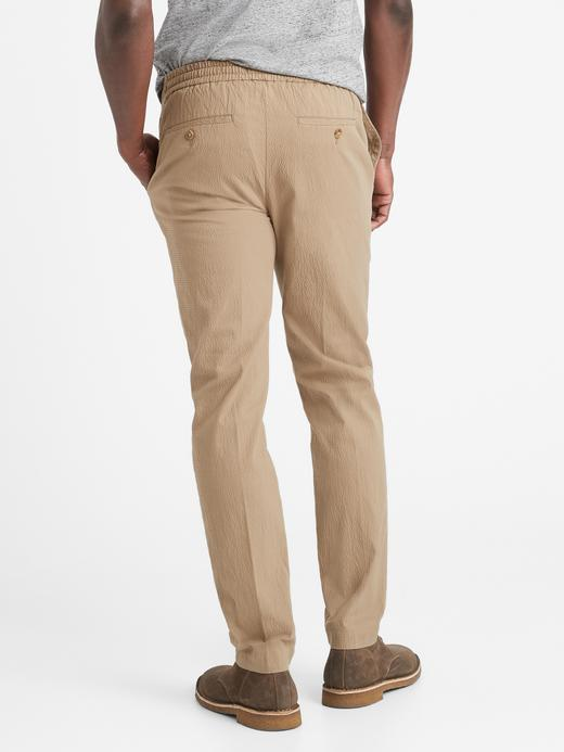 Erkek Lacivert Slim Gofre Pantolon