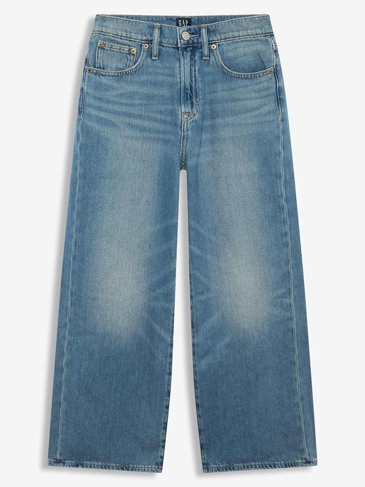 Kadın Mavi Super Wide-Leg Jean Pantolon