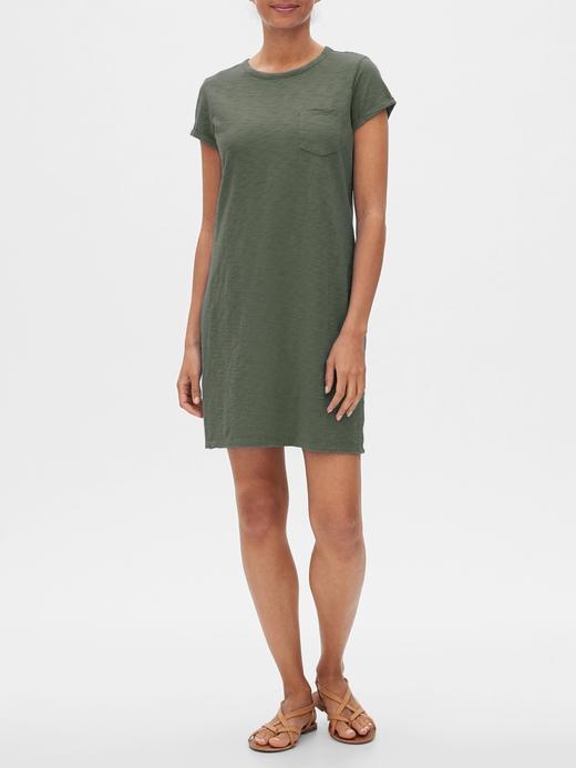 Kadın Yeşil Kısa Kollu Elbise