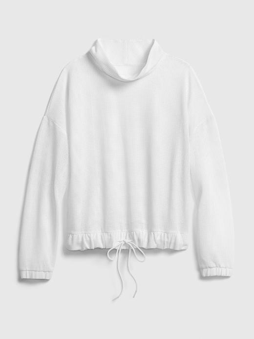 Kadın Beyaz GapFit Cropped Sweatshirt