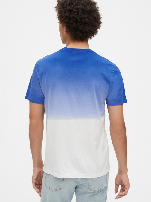 Erkek Lacivert Gap Logo Kısa Kollu T-shirt