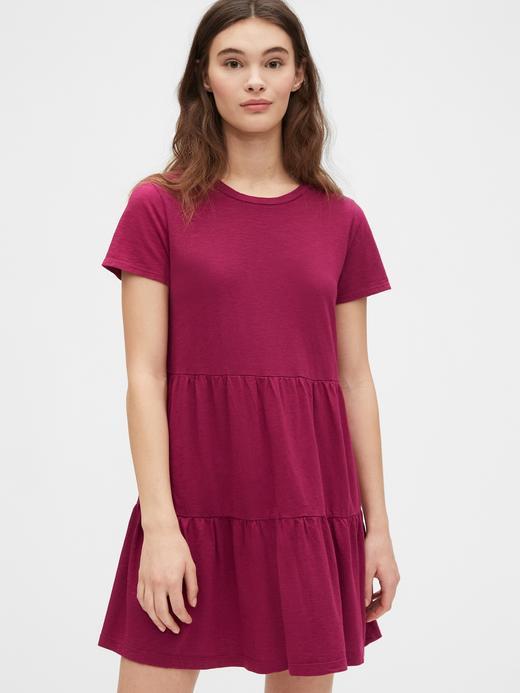 Kadın Pembe Kısa Kollu Elbise