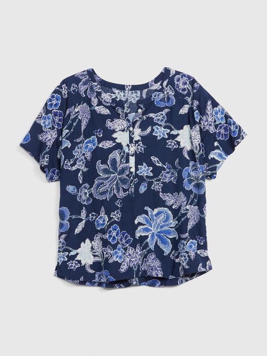 Kadın Lacivert Dreamwell Çiçek Desenli Pijama Üstü