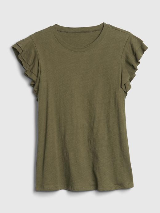 Kadın Pembe Fırfır Kollu Bluz