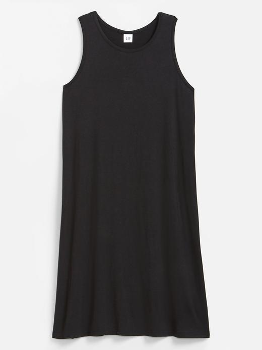 Kadın Siyah Kolsuz Midi Elbise