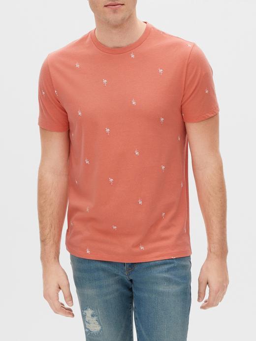 Erkek Turuncu Kısa Kollu Yuvarlak Yaka T-Shirt