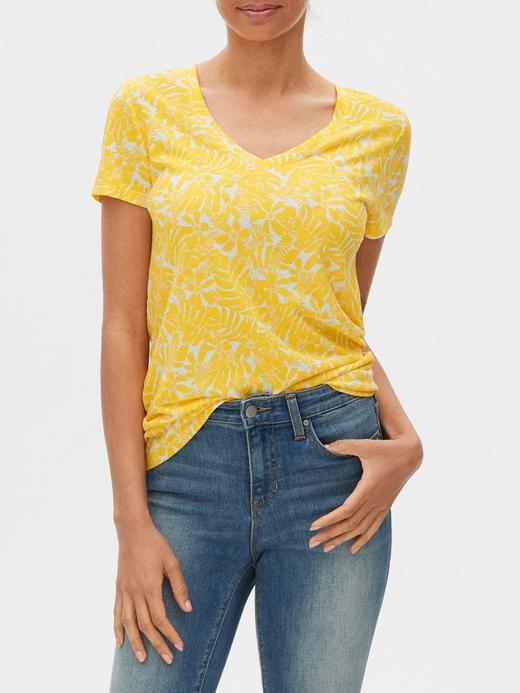 Kadın Sarı Favorite V-Yaka T-Shirt
