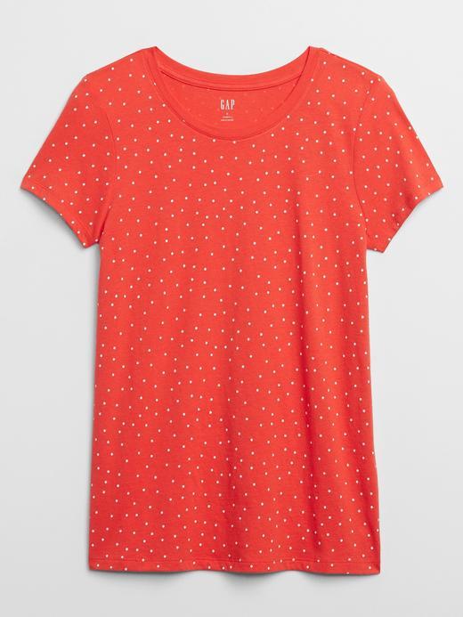 Kadın Kırmızı Favorite Desenli Yuvarlak Yaka T-Shirt