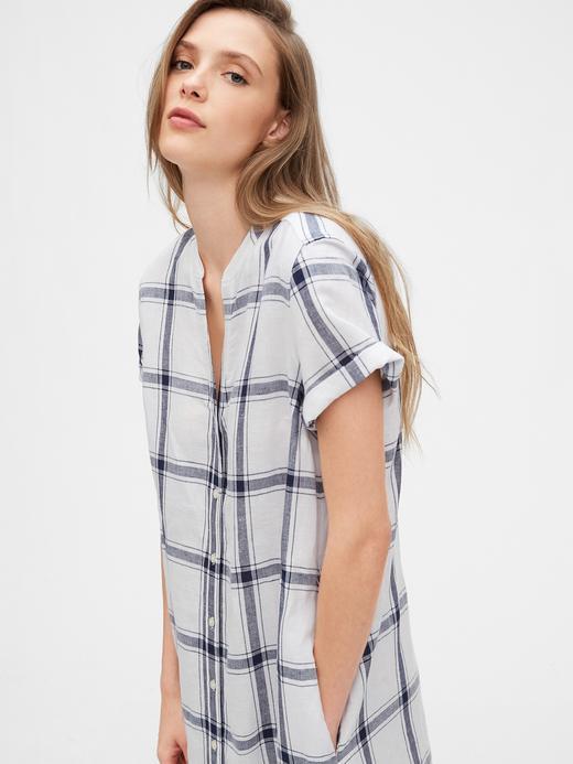 Kadın Çok Renkli Çizgili Gömlek Elbise