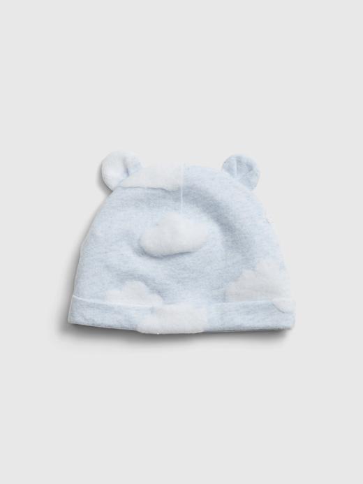 Erkek Bebek Mavi Kulaklı Bere