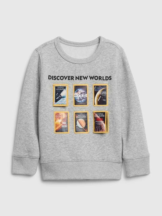 Erkek Bebek Gri National Geographic Yuvarlak Yaka Sweatshirt