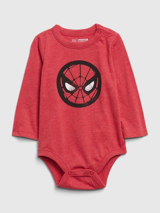 Erkek Bebek Kırmızı Marvel© Grafik Body