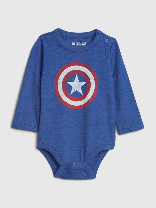 Erkek Bebek Lacivert Marvel© Grafik Body