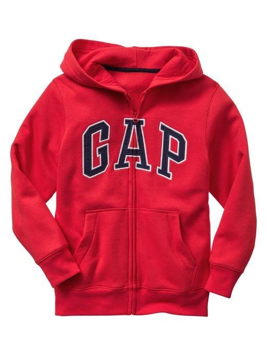 Erkek Çocuk Kırmızı Gap Logo Kapüşonlu Sweatshirt