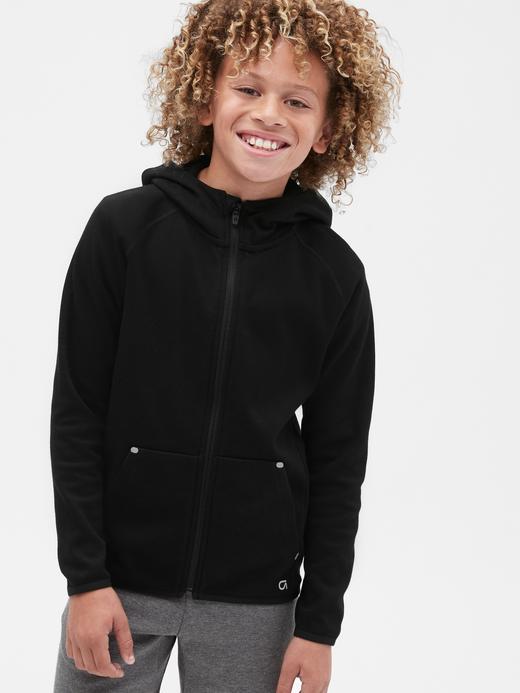 Erkek Çocuk Siyah GapFit Kapüşonlu Sweatshirt