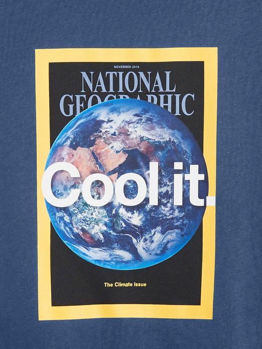 Erkek Çocuk Beyaz National Geographic Kısa Kollu T-Shirt