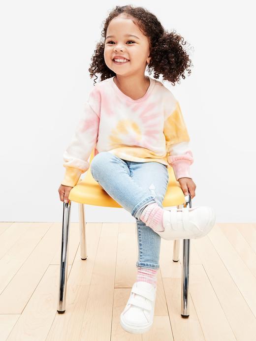 Kız Bebek Sarı Batik Desenli Sweatshirt