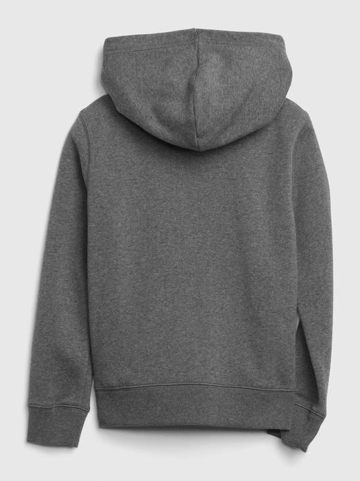Kız Çocuk Gri Gap Logo Kapüşonlu Sweatshirt