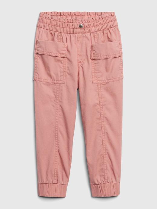 Kız Bebek Pembe Pull-On Kargo Pantolon