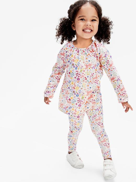 Kız Bebek Kahverengi Desenli Tayt
