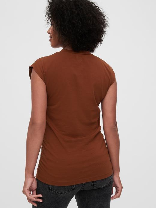 Kadın Siyah Maternity Saf Pamuklu T-Shirt