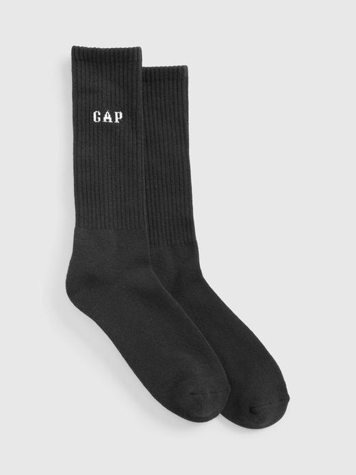 Erkek Siyah Gap Logo Çorap