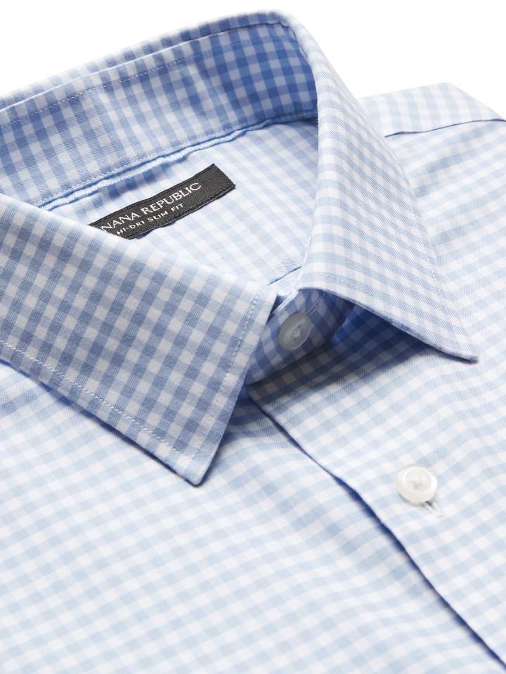 Erkek Mavi Slim-Fit Uzun Kollu Gömlek