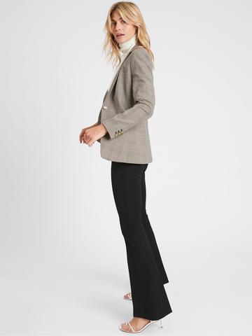 Kadın Siyah High-Rise Flare Sloan Pantolon