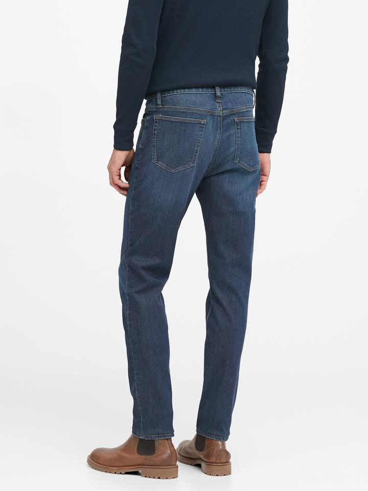 Erkek Lacivert Slim Dry Indigo® Traveler Jean Pantolon