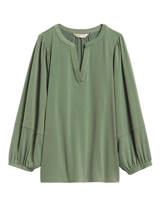 Kadın Yeşil Uzun Kollu Bluz