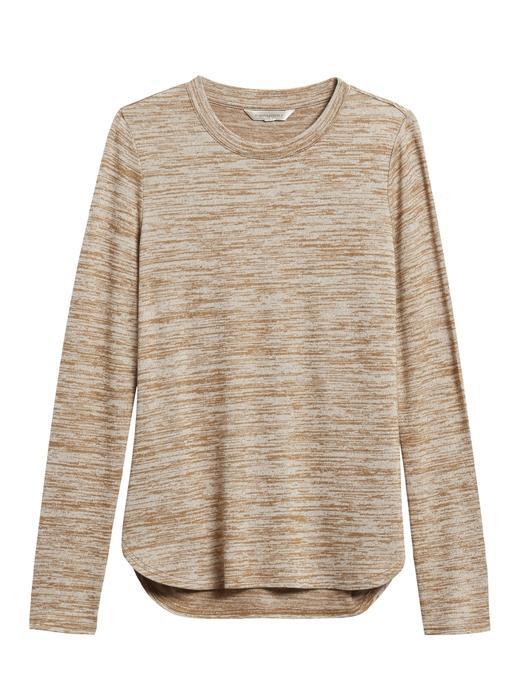 Kadın Kahverengi Luxespun Uzun Kollu T-Shirt