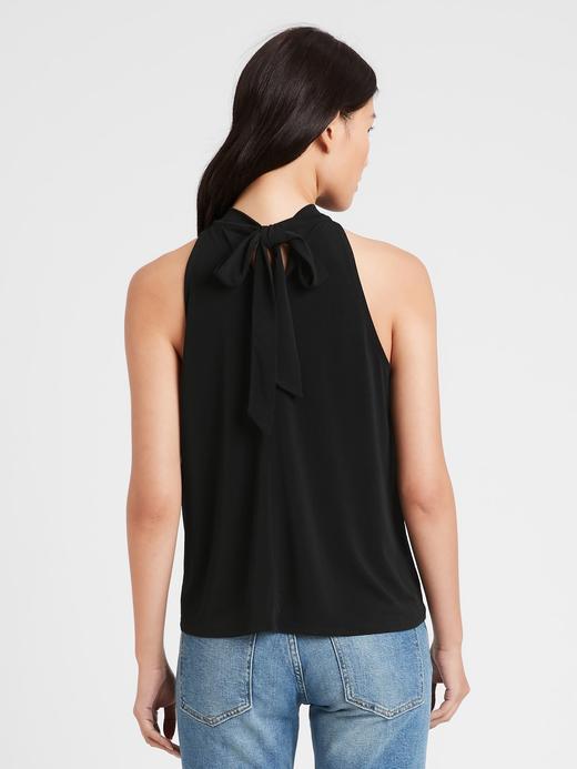 Kadın Siyah Halter Yaka Bluz