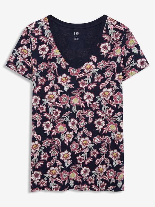 Kadın Lacivert Favorite V-Yaka T-Shirt