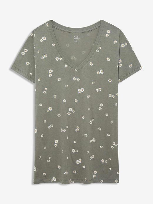 Kadın Yeşil Favorite V-Yaka T-Shirt