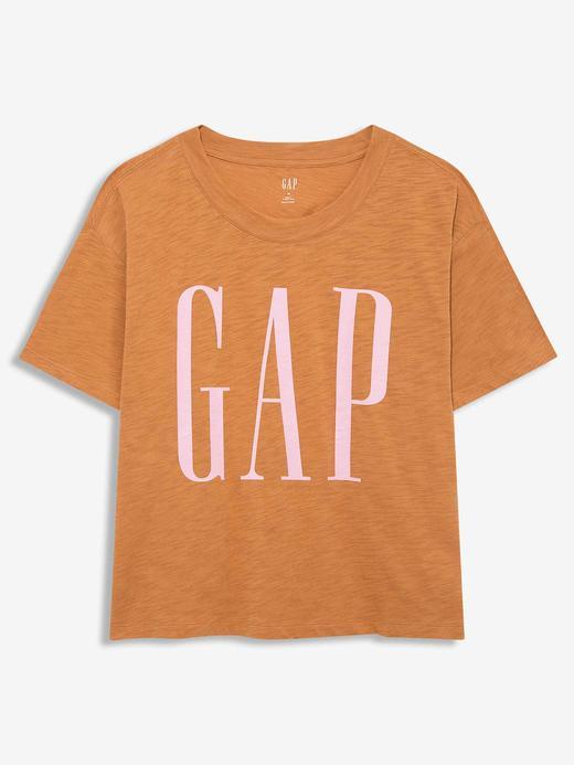 Kadın Kahverengi Gap Logo Kısa Kollu T-Shirt
