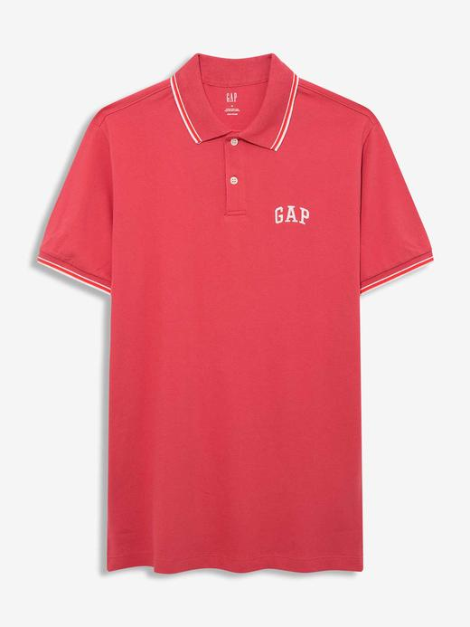 Erkek Kırmızı Gap Logo Polo Yaka T-Shirt