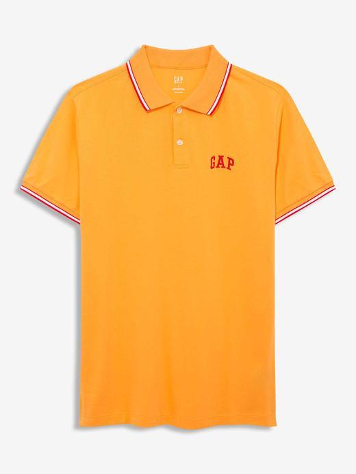 Erkek Turuncu Gap Logo Polo Yaka T-Shirt
