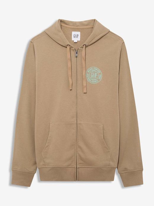Erkek Bej Gap Logo Kapüşonlu Sweatshirt