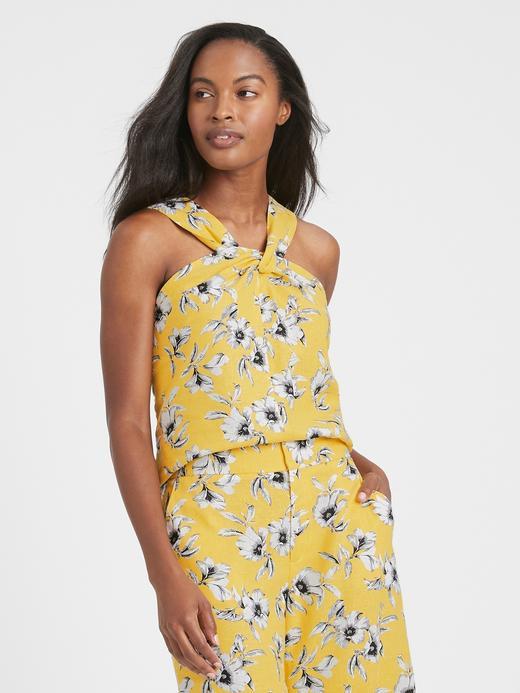 Kadın Sarı Halter Yaka Bluz