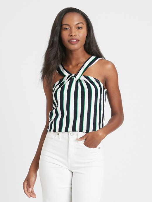 Kadın Çok Renkli Halter Yaka Bluz