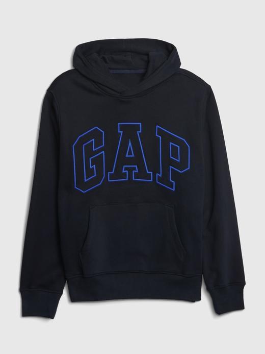 Erkek Kahverengi Gap Logo Kapüşonlu Sweatshirt
