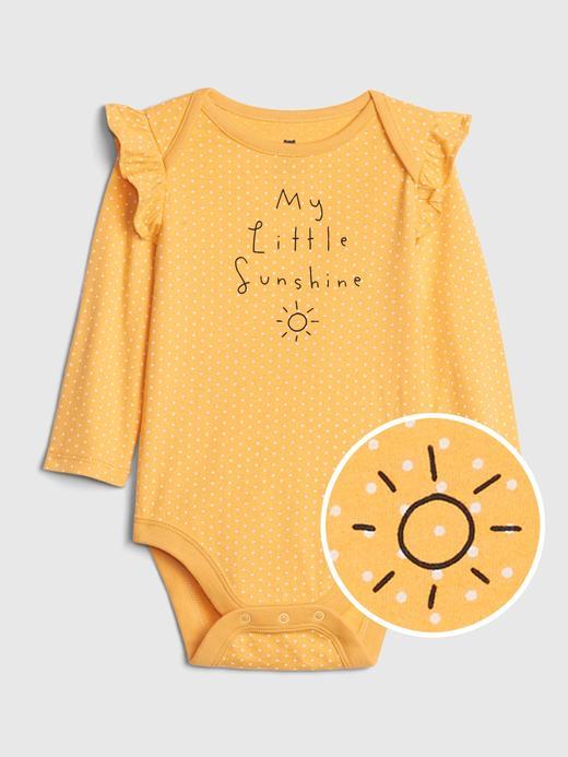 Kız Bebek Sarı Desenli Body