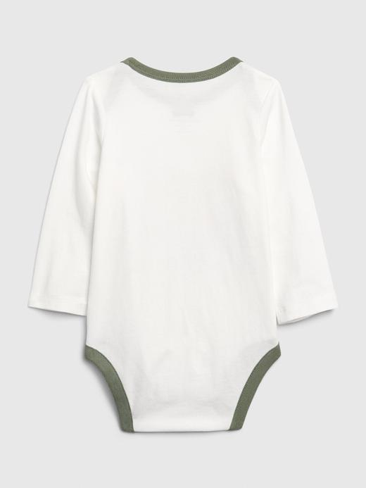 Erkek Bebek Bej Grafik Desenli Body