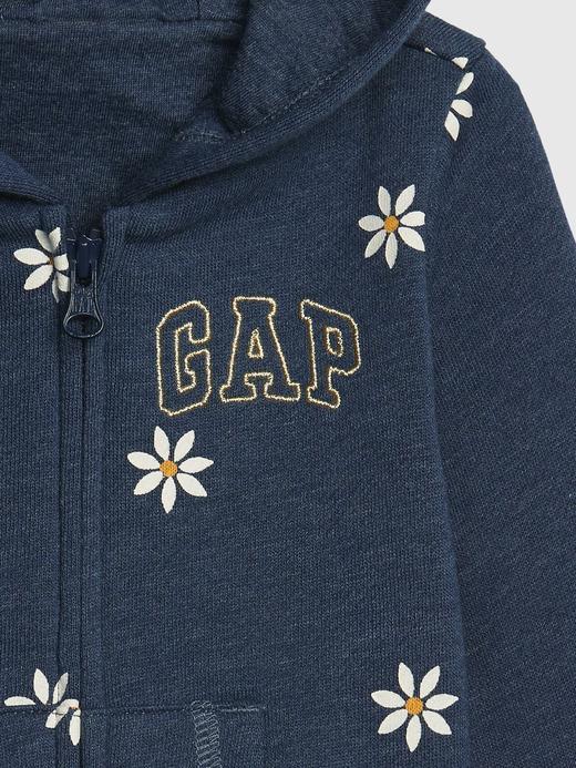 Kız Bebek Mavi Gap Logo Kapüşonlu Sweatshirt