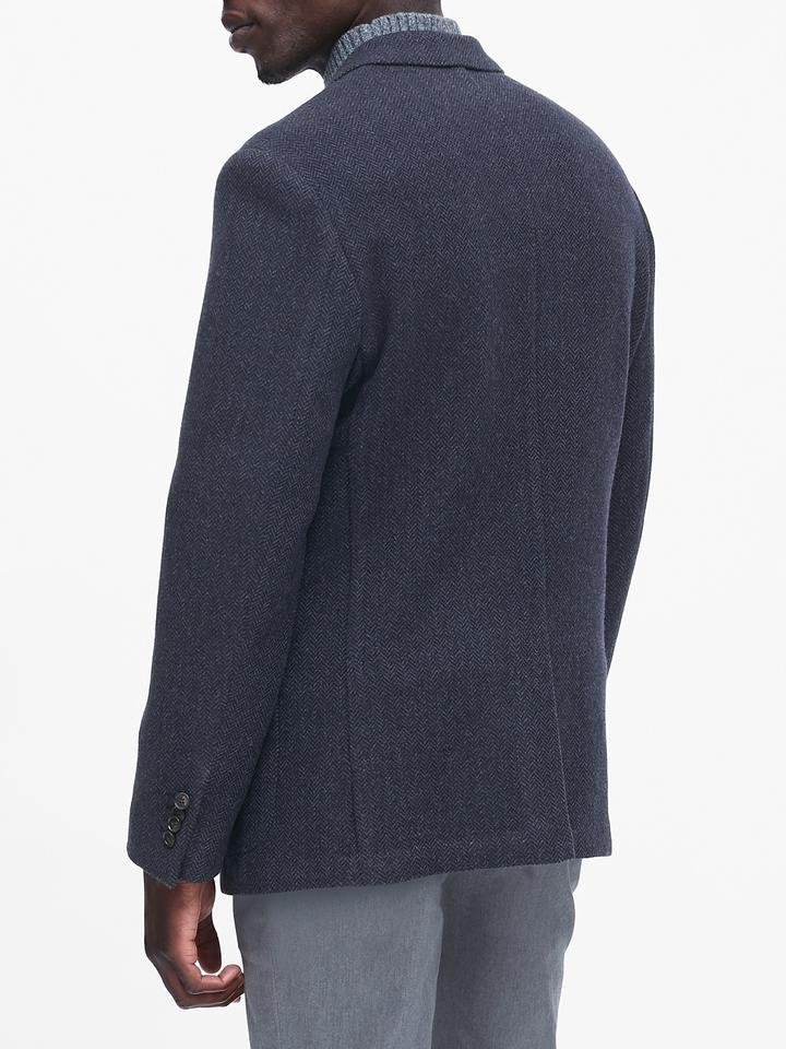 Erkek Lacivert Slim Italian Blazer Ceket