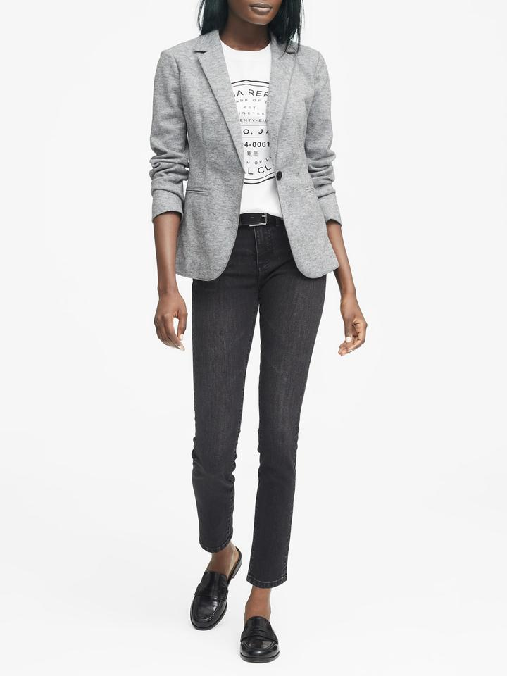 Kadın Gri Unstructured Blazer Ceket
