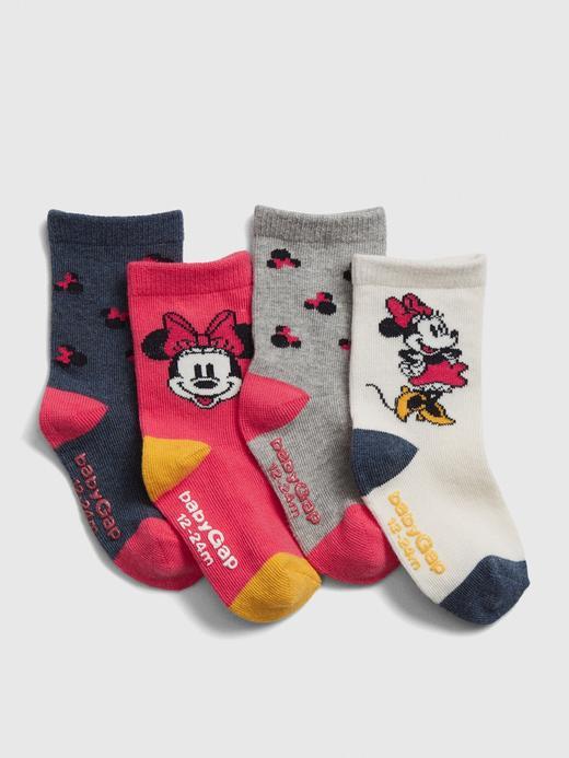 Bebek Çok Renkli 4'lü Disney Minnie Mouse Çorap Seti
